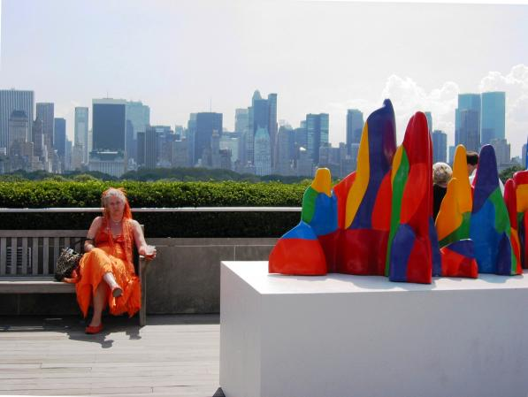 Lewitt Splotches & Woman in Orange